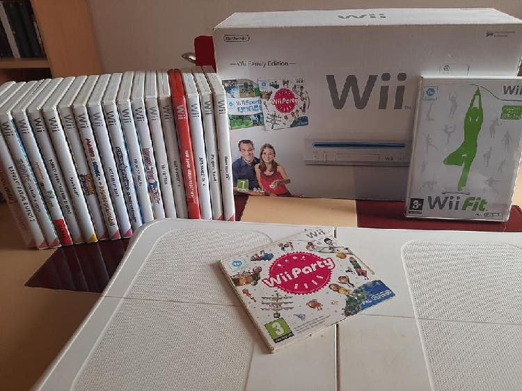 Wii + balance board + 20 juegos