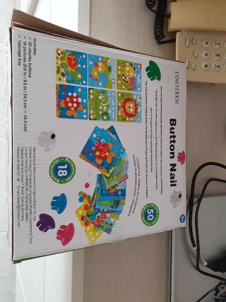 Juego de fichas con botones de colores