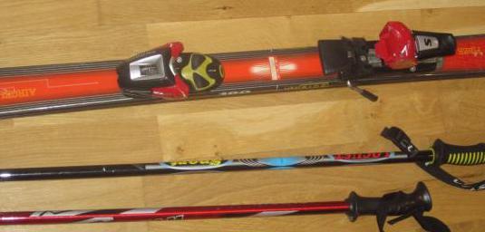 Esquís dynastar, con fijaciones y bastones