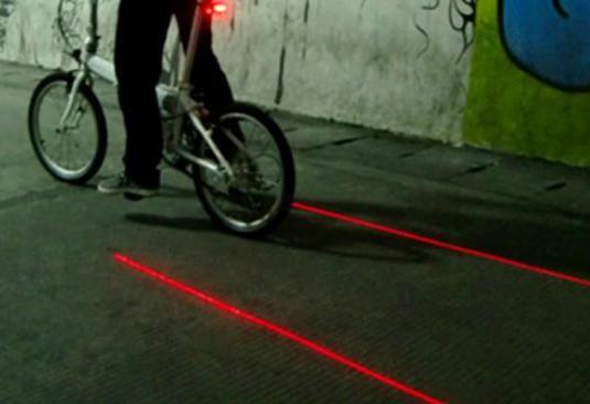 Led bici trasera laser's laterales - delimitador