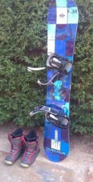 Tabla snowboard fijaciones botas