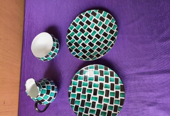 4 piezas ceramica castro -sargadelos