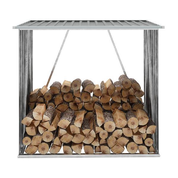 Casetilla para leña acero galvanizado 163x83x154cm