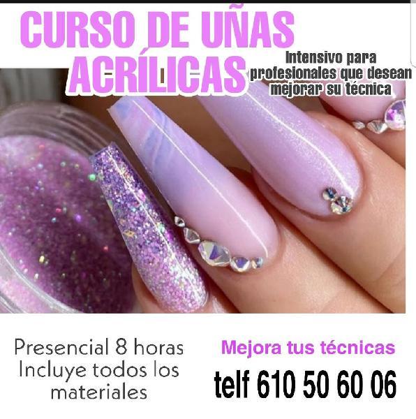 Curso intensivo de uñas acrilícas