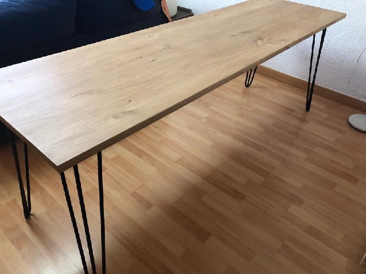 Escritorio madera maciza 2m