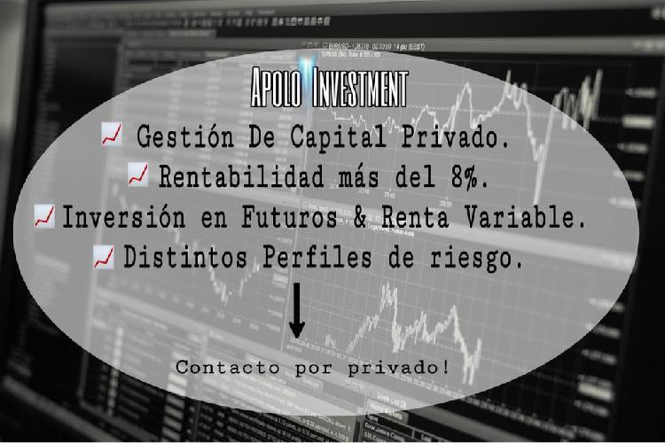 Gestión capital 8% rentabilidad