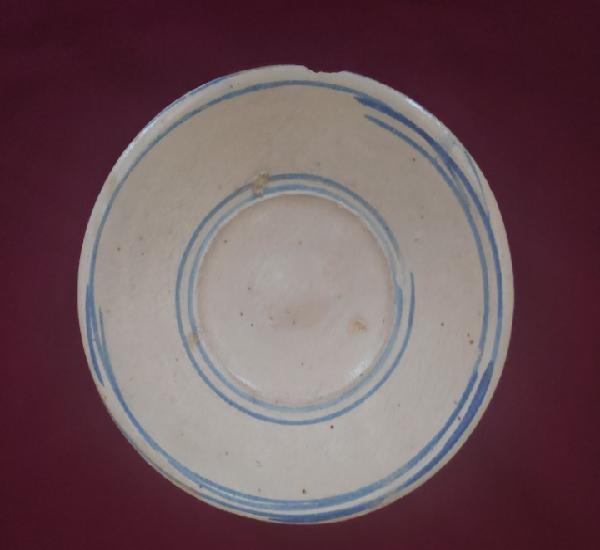 Inusual plato antiguo de refectorio de triana (sevilla),