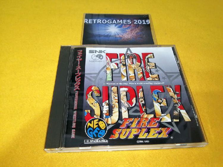 Neo geo fire suplex / 3 count bout neogeo spine