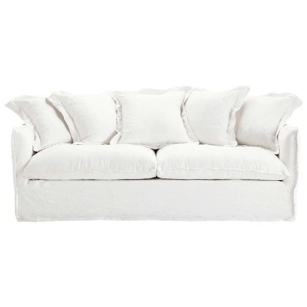Sofa cama convertible 3/4 plazas lino, de diseño