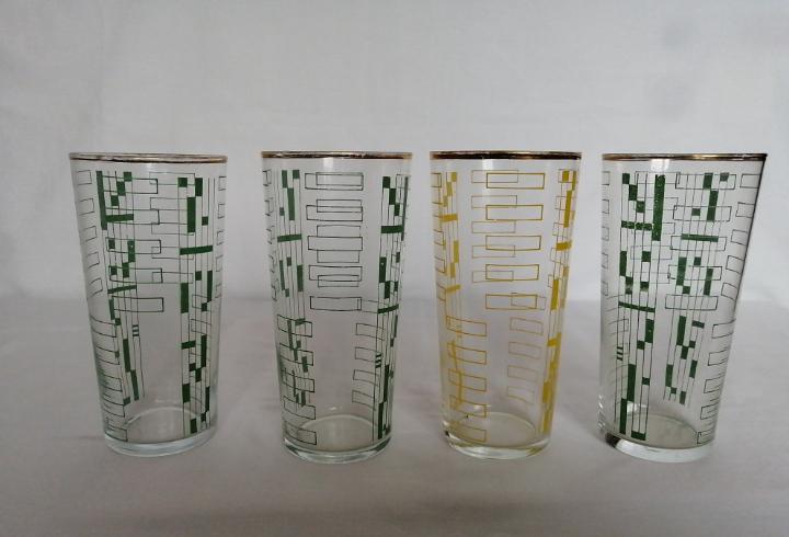 Vasos de cristal serigrafiados.