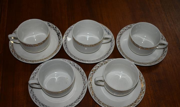 Antiguo juego cafe ceramica china opaca