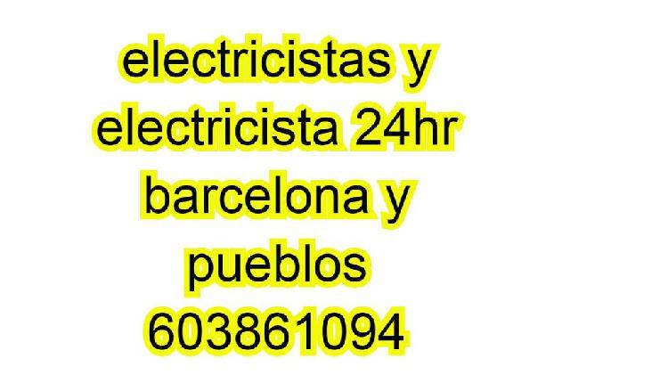 Electricista y electricistas en barcelona y pueblo