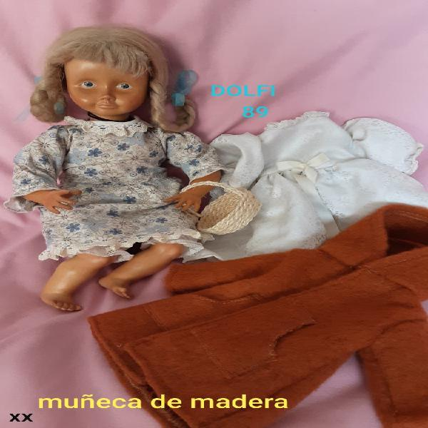 Muñeca de madera dolfi 1989 tirol