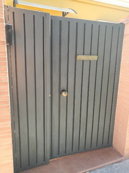 Puerta doble hoja hierro