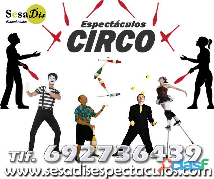 Espectáculos de malabares y circo