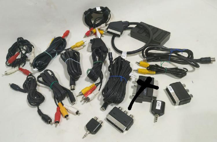 15 cables audio y video por 7 eur!!