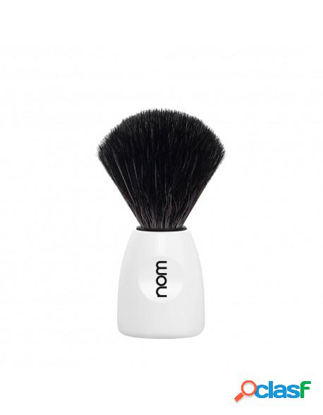 Mühle nom lasse shaving brush black fibre white