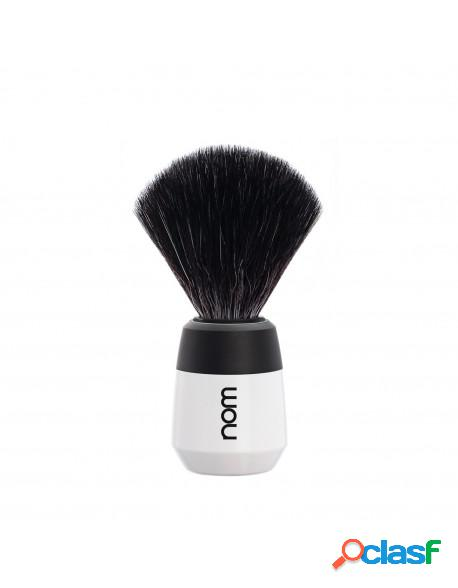 Mühle nom max shaving brush black fibre white