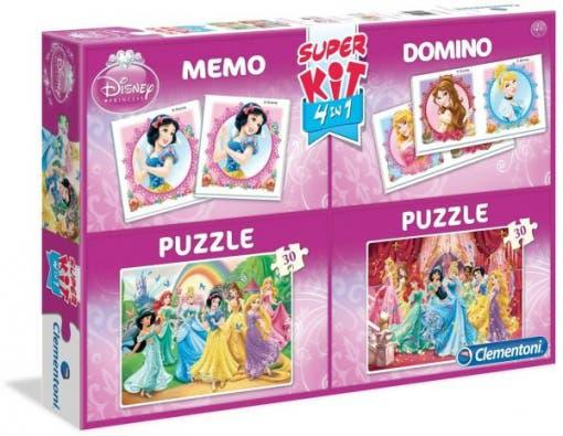 4 juegos princesas disney y puzzle kit 4 en 1