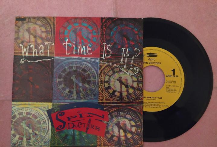 """7"""" spin doctors – what time is it? - epic arie 3234 -"""