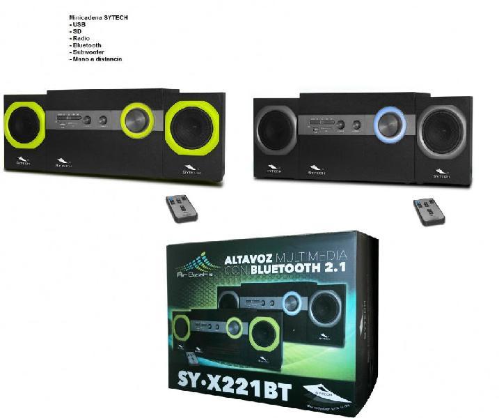 Altavoz multimedia sytech 2.1 x221bt