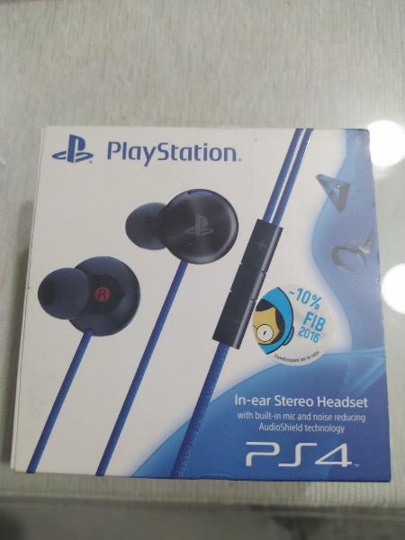 Auriculares in ear ps4 headset con micrófono.