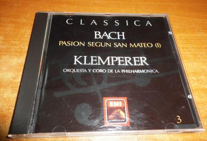 Classica 3 bach pasion segun san mateo (i) klemperer cd