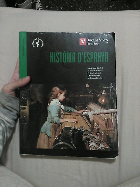 """Libro """"història d'espanya"""" en valenciano."""