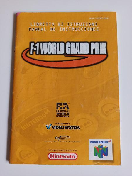 Manual f1 grand prix nintendo 64