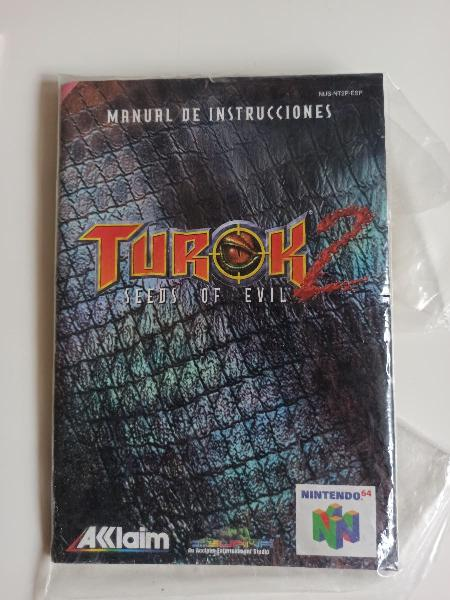 Manual turok 2 nintendo 64