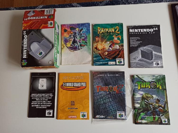 Manuales juegos nintendo 64
