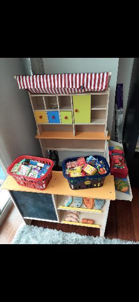 Mercado juguete niños madera