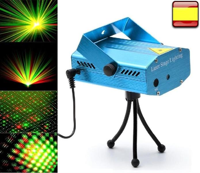 Mini proyector led laser rojo verde