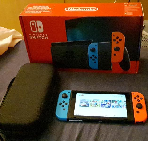 Nintendo switch v2+22 juegos digitales y extras