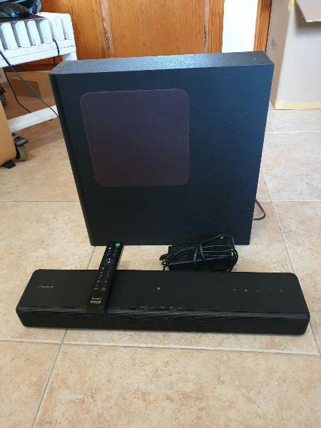 Sistema de audio 2.1 barra televisor y subwoofer