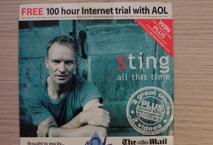 Sting: fragile, cd single con cuatro temas distribuido con