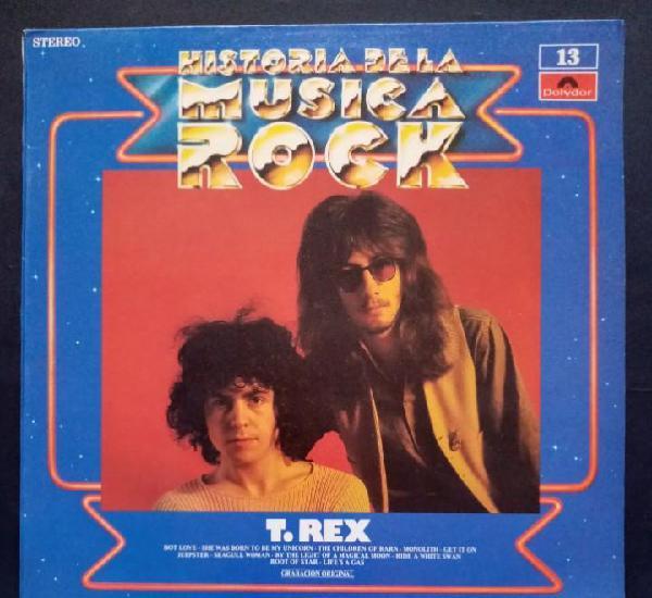 T.rex s/t - historia de la musica rock- lp 1982 - polydor