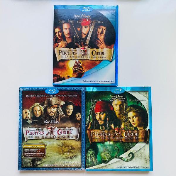 Trilogia piratas del caribe blu-ray