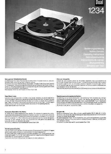 Manual usuario / servicio tocadiscos vintage