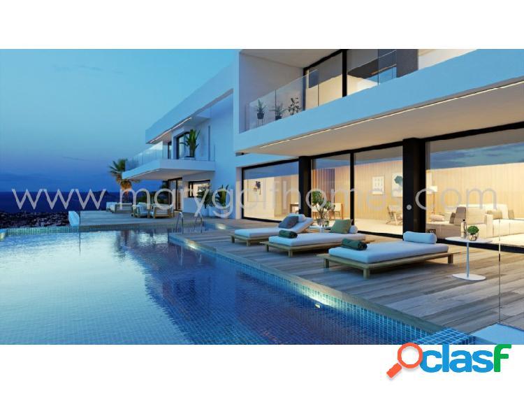 Villa de diseño vanguardista y vistas al mar en cumbres del sol, alicante