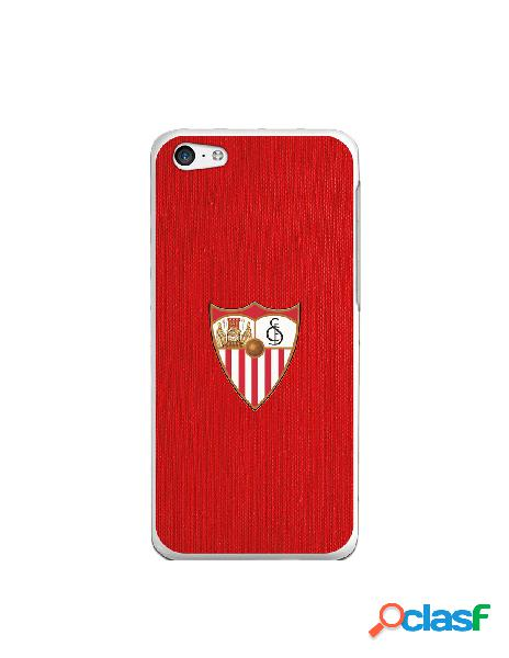 Funda oficial sevilla escudo color fondo rojo para iphone 5c