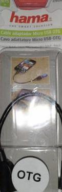 Cable adaptador micro usb otg tipo a hama