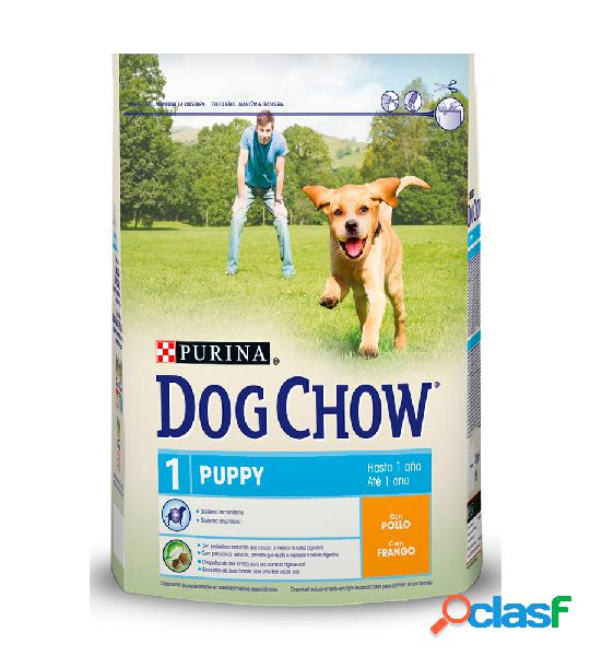 Dog chow puppy pollo 14 kg.