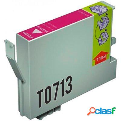 Cartucho de tinta compatible epson t0713, color magenta, 13 ml
