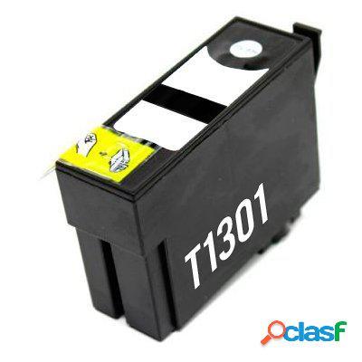 Cartucho de tinta compatible epson t1301, color negro, 33 ml
