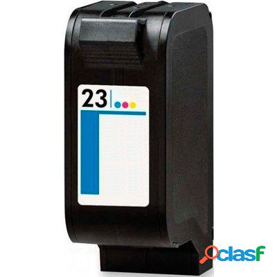 Cartucho de tinta compatible hp c1823d, hp 23, tricolor, 30 ml