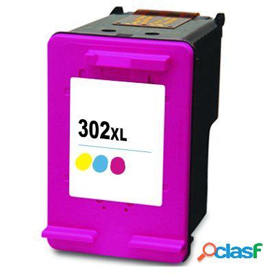 Cartucho de tinta compatible hp f6u67ae, hp 302xl, tricolor, 20 ml