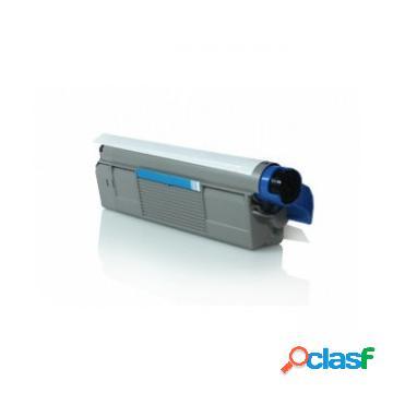 Tóner compatible oki 43865723/o5850c, color cyan, 6000 pag