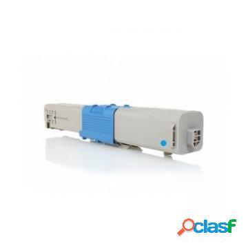 Tóner compatible oki 44469724/o510c, color cyan, 5000 pag