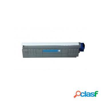 Tóner compatible oki 43487711/o8600c, color cyan, 6000 pag